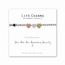 "Life Charms Bracelet - "" You are an AMAZING AUNTY "" - Gift Boxed"